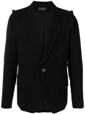 Однобортный пиджак строгого кроя Ann Demeulemeester. Цвет: черный
