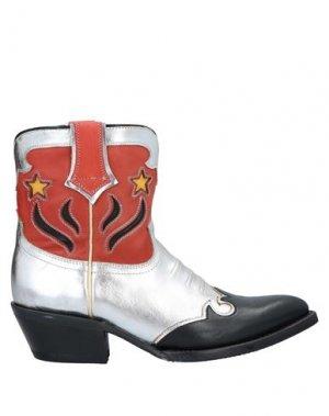 Полусапоги и высокие ботинки ASH. Цвет: серебристый