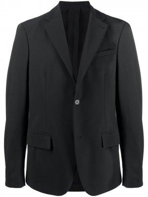 Пиджак на пуговицах Traiano Milano. Цвет: черный