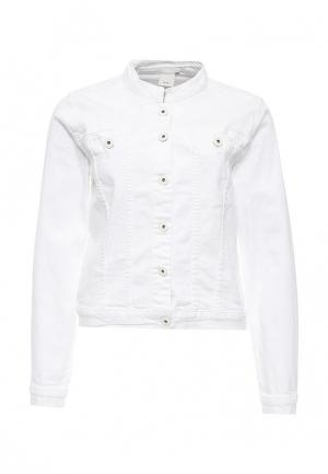 Куртка джинсовая Ichi. Цвет: белый