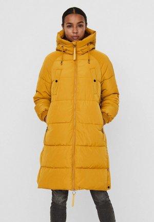 Куртка утепленная Vero Moda. Цвет: желтый