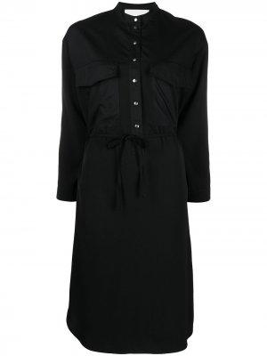 Платье-рубашка с завязками 8pm. Цвет: черный