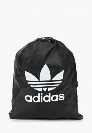 Мешок adidas Originals GYMSACK TREFOIL. Цвет: черный
