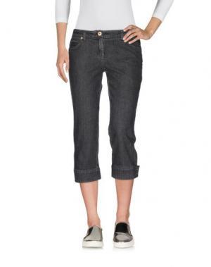 Джинсовые брюки-капри CARACTÈRE. Цвет: черный