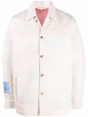 Фактурная куртка на пуговицах MCQ. Цвет: нейтральные цвета