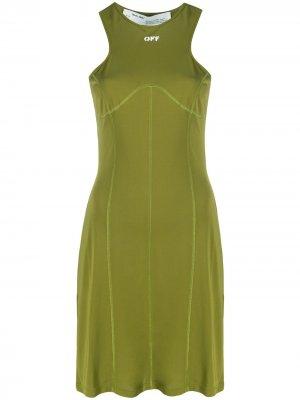 Спортивное платье с принтом OFF Off-White. Цвет: зеленый