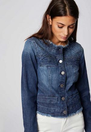 Куртка джинсовая Morgan. Цвет: синий