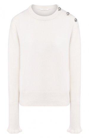 Кашемировый пуловер Chloé. Цвет: белый