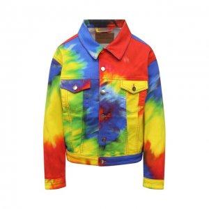 Джинсовая куртка Alexandre Vauthier. Цвет: разноцветный
