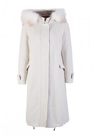 Пальто VIOLANTI. Цвет: белый