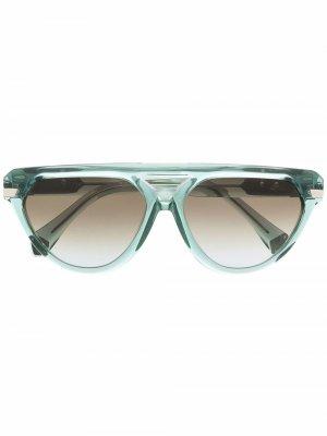 Солнцезащитные очки-авиаторы 8503 Cazal. Цвет: зеленый