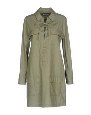 Короткое платье EQUIPMENT. Цвет: зеленый-милитари