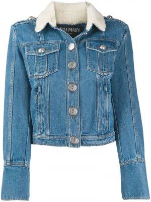 Cropped denim jacket Balmain