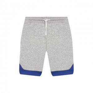 Хлопковые шорты MARC JACOBS (THE). Цвет: серый
