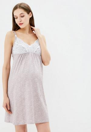 Сорочка ночная Hunny mammy. Цвет: бежевый