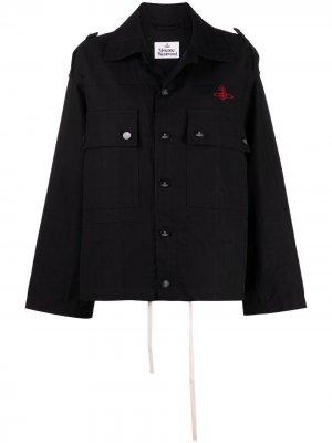 Куртка Ben с вышитым логотипом Vivienne Westwood. Цвет: черный