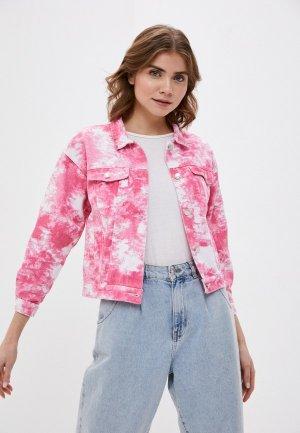 Куртка джинсовая Fadas. Цвет: розовый
