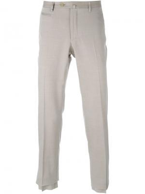 Классические брюки Corneliani. Цвет: телесный