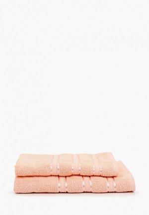 Набор полотенец Эго 50х85 см, 70х135 см. Цвет: коралловый