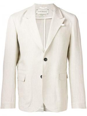 Однобортный пиджак Brookes Oliver Spencer. Цвет: бежевый