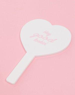 Зеркало в форме сердца -Белый Monki