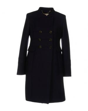 Пальто VDP COLLECTION. Цвет: темно-синий