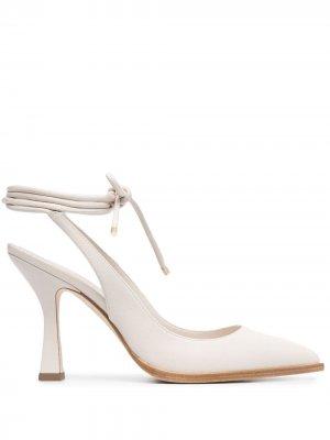Туфли с заостренным носком и шнуровкой Grey Mer. Цвет: нейтральные цвета