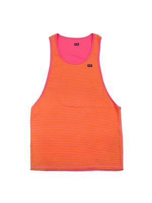 Майка спортивная K1X. Цвет: малиновый, оранжевый