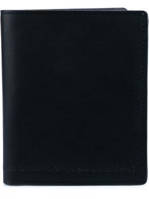 Классический бумажник Ann Demeulemeester. Цвет: черный