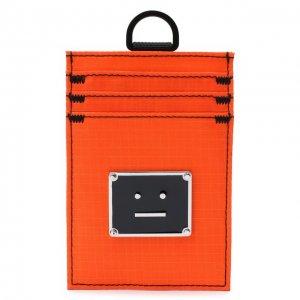Текстильный футляр для кредитных карт Acne Studios. Цвет: оранжевый