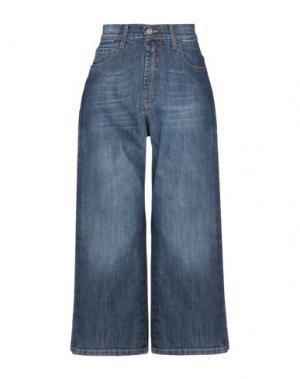 Джинсовые брюки-капри MEM.JS. Цвет: синий
