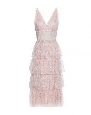 Платье длиной 3/4 CATHERINE DEANE. Цвет: светло-розовый