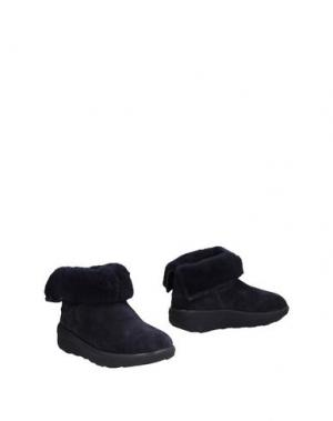 Полусапоги и высокие ботинки FITFLOP. Цвет: темно-синий