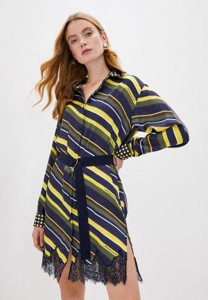 Платье Ermanno Scervino. Цвет: разноцветный