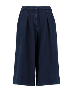 Джинсовые брюки-капри AG JEANS. Цвет: синий