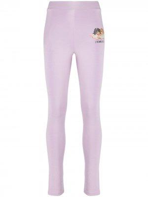 Angel print leggings Fiorucci. Цвет: фиолетовый