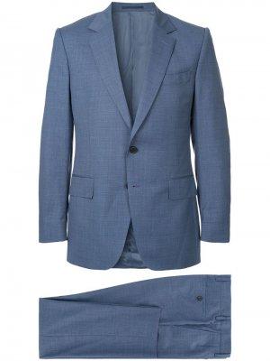 Деловой костюм-двойка Gieves & Hawkes. Цвет: синий