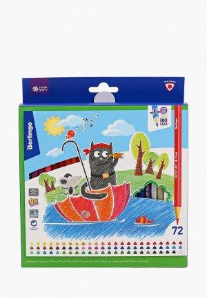 Набор для творчества Berlingo 72 цветных карандаша SuperSoft. Жил-был кот, цвета, трехгранные. Цвет: разноцветный