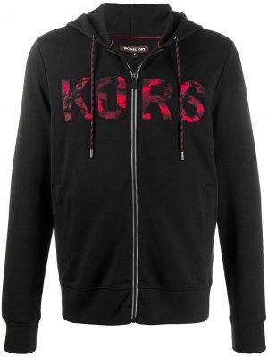 Худи на молнии с вышитым логотипом Michael Kors. Цвет: черный