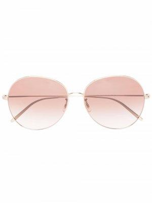 Солнцезащитные очки-авиаторы Ysela Oliver Peoples. Цвет: золотистый