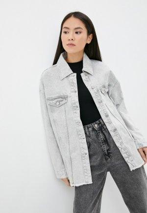 Куртка джинсовая Concept Club. Цвет: серый