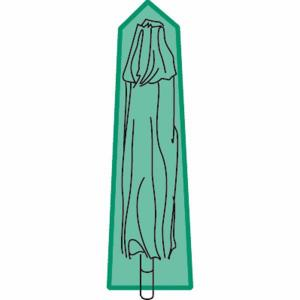 Чехол специальный для солнечного зонта LA REDOUTE INTERIEURS. Цвет: зеленый
