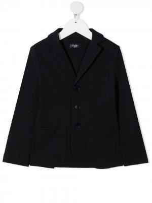 Твиловый пиджак Il Gufo. Цвет: синий