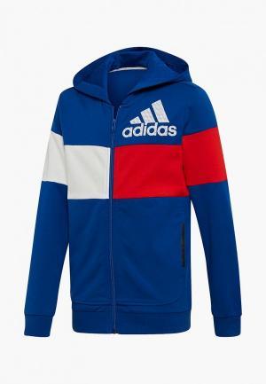 Толстовка adidas YB SID CB FZ. Цвет: синий