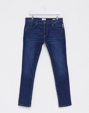 Темно-синие джинсы скинни -Синий Esprit