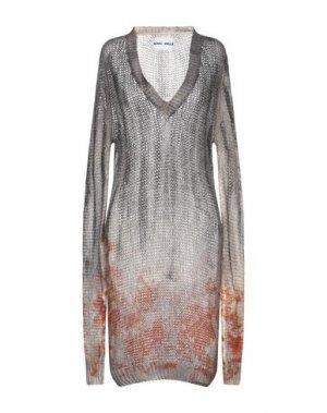 Платье до колена BRAND UNIQUE. Цвет: свинцово-серый