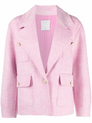 Однобортный пиджак Farah SANDRO. Цвет: розовый