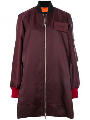 Длинная куртка-бомбер Calvin Klein 205W39nyc. Цвет: коричневый
