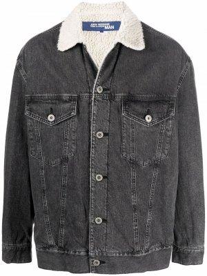 Джинсовая куртка с подкладкой из овчины Junya Watanabe MAN. Цвет: черный