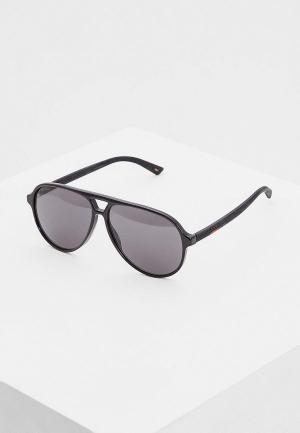 Очки солнцезащитные Gucci GG0423S007. Цвет: черный